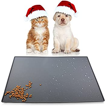 airsspu dog feeding mat bowl mat for dogs and cats food grade silicone waterproof