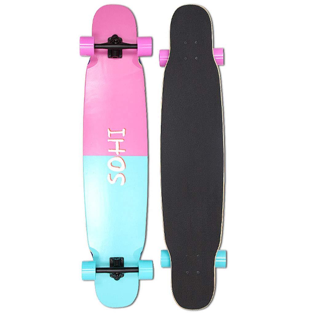 HYE-SPORT 46 Inches Long X 9.8 Inch Wide Deck Longboard Dancing Skateboard for Kids/Boys/Girls/Youth/Adults Tricks Skate Board