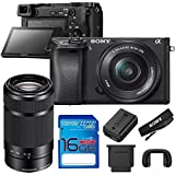 Sony Alpha a6300 Mirrorless Digital Camera with 16-50mm Lens and Sony 55-210mm Lens + 16GB I3ePro SD Card - International Version