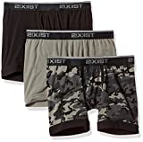 2(x)ist mens Cotton Stretch 3 Pack Boxer Brief, black Camo/black/Grey, Medium