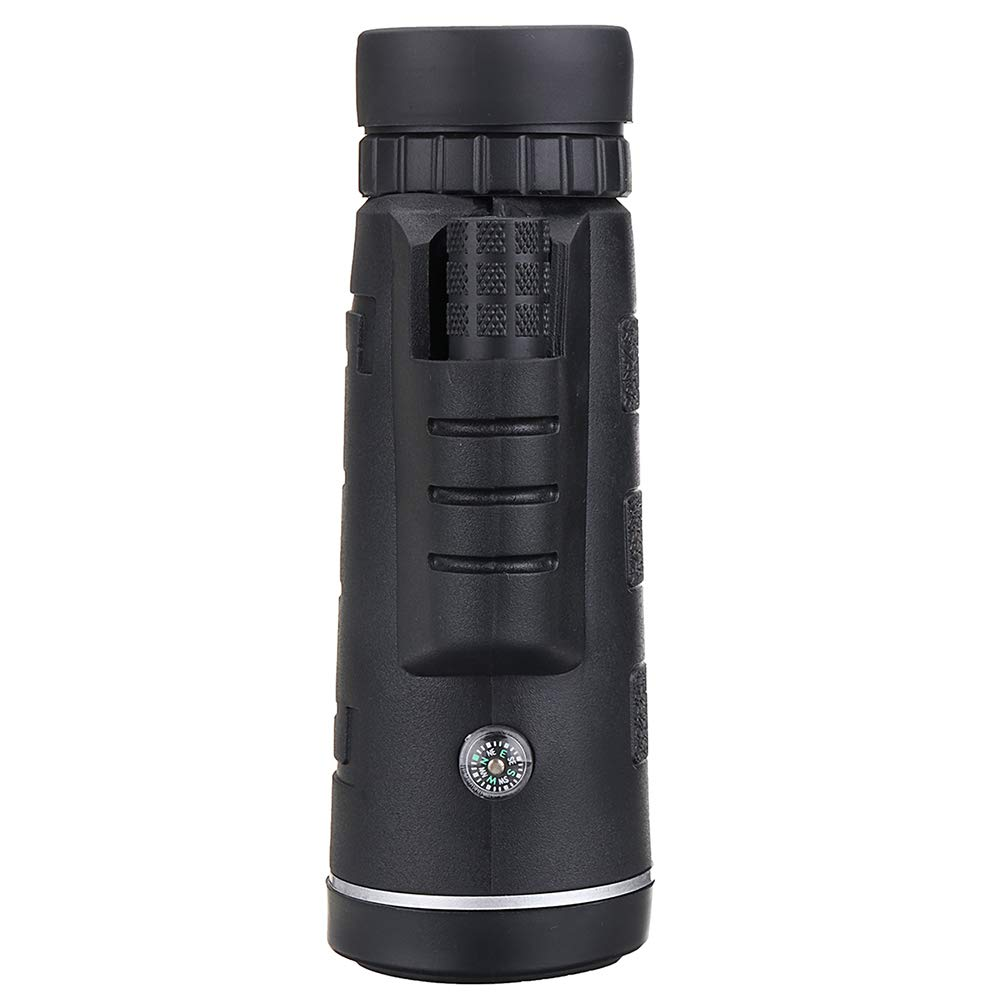 Gorkuor 40X60 Telescopio monocular con clip para tel/éfono y tr/ípode impermeable HD lente telescopio monocular de alta potencia