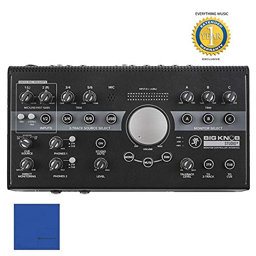 Control Mackie - Mackie Big Knob Studio+ Monitor Controller and Interface with 1 Year EverythingMusic Extended Warranty Free