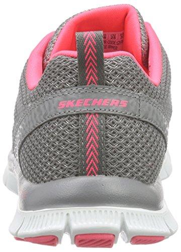 Skechers Womens Flex Appeal - Hot Grijs / Roze