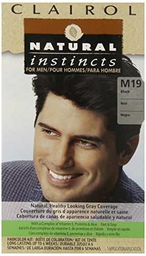 Natural Instincts de Clairol Couleur des cheveux pour les hommes M19 Noir 1 Kit (Pack de 3)