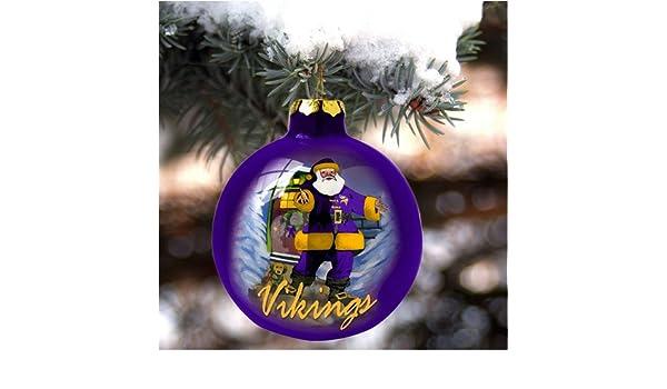 Amazon.com   Minnesota Vikings Hand Painted Art Glass Christmas Ornament    Decorative Hanging Ornaments   Sports   Outdoors 218e08c5a