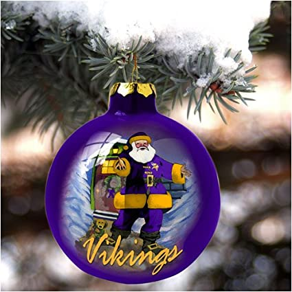 Image Unavailable. Image not available for. Color  Minnesota Vikings Hand  Painted Art Glass Christmas Ornament 9ab616a53