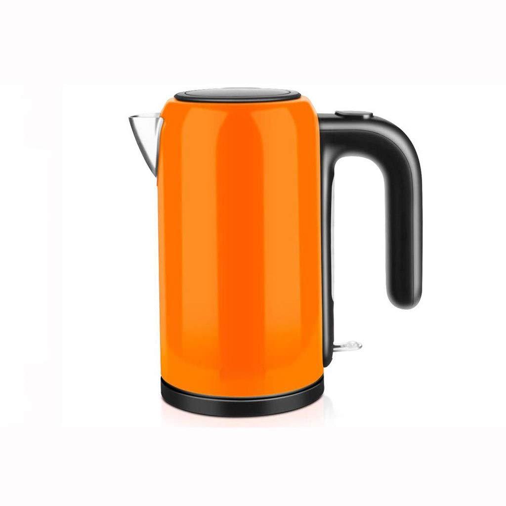 正規品販売! MXYXN 元のステンレス鋼の二重壁1Lの電気やかん (色 : オレンジ)  オレンジ B07QX5F5C1, 三隅町 69d831ea