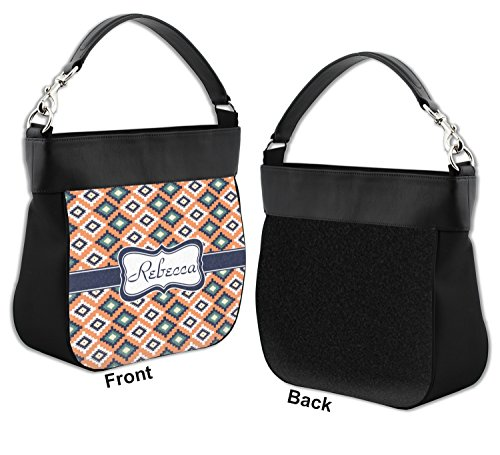 Tribal Personalized Front Trim Genuine Purse w Leather Hobo rqTpwr