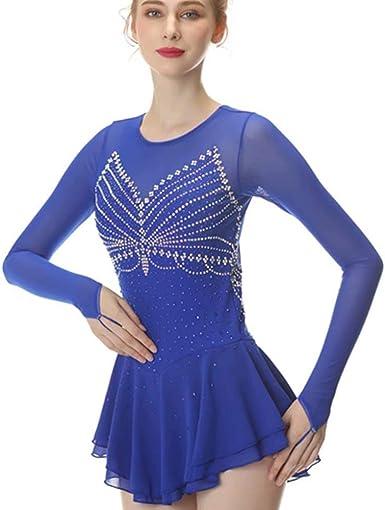 Youth XL navy figure skating dress