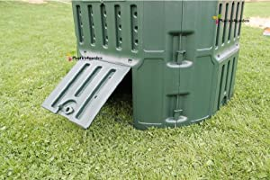 Prosperplast - Muy sólido Garden tacho de Basura de Unidad de compostaje conversor 340l – Verde