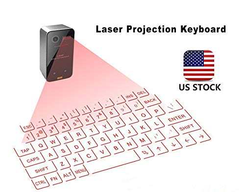 Big HardSea Virtual Keyboard Wireless Laser Projection Bluetooth Virtual Keyboard for iPad iPhone Android Smart Phones Notebook Laptop,PC (Best Virtual Keyboard For Ipad)