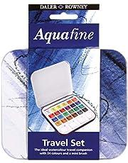 مجموعة الوان مياه صغيرة للسفر اكوافاين مع فرشاة من دايلر روني - 24 لون