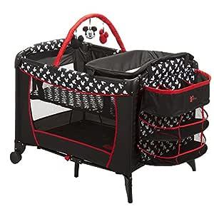 Disney Baby Mickey Mouse Silhouette Play Yard Pack N' Play Crib Bassinett Newborn