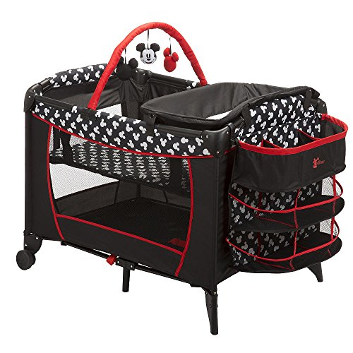 Disney Baby Mickey Mouse Silhouette Play Yard Pack N Play Crib Bassinett Newborn