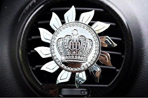 Sino Banyan Car Air Freshener,Propeller shape Car Perfume,Car Fragrance Air Purifier Vent Clip Fragrance Diffuser,Crown - White Wall Pockets Diffuser