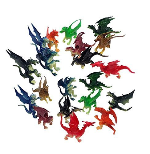 amazoncom 25 3 plastic fire breathing mini dragons 20 pieces toys games