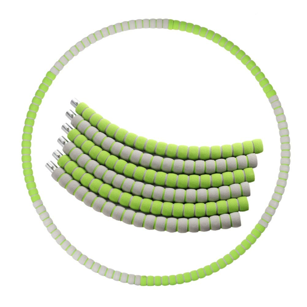 Hula Hoops Removable Female Adult Thin Waist Weight Loss Ring Male Safety Diameter 82cm HUYP (Color : Green)