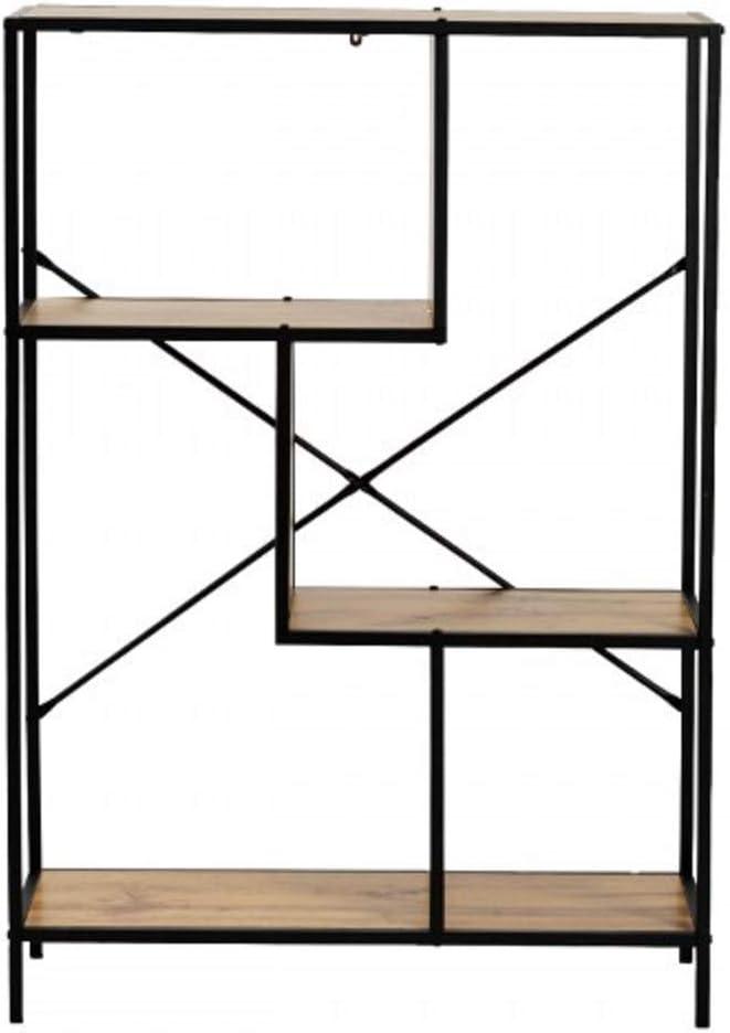 BEW Open Bookshelf Wood, Tall Bookshelf with Storage, 4 Tier Rustic Bookshelf, Home Office Bookcase