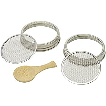 Amazon Com Sprouting Jar Strainer Lid By Handy Pantry