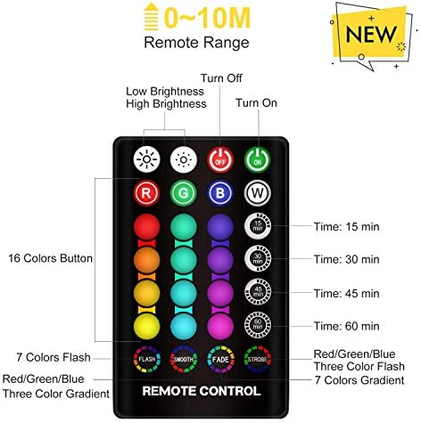 LOGROTATE 16 Colors LED 3D Print Moon Light with Stand /& Remote/&Touch Moon Lamp