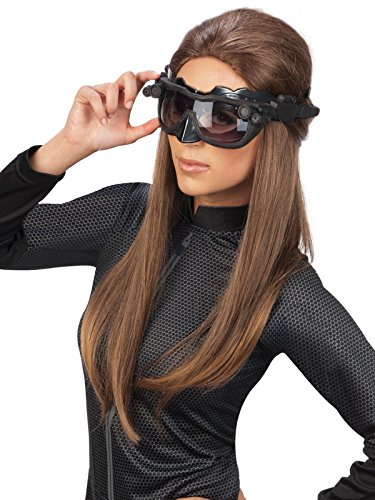 (Batman The Dark Knight Rises Deluxe Catwoman Goggles mask, Black, One)