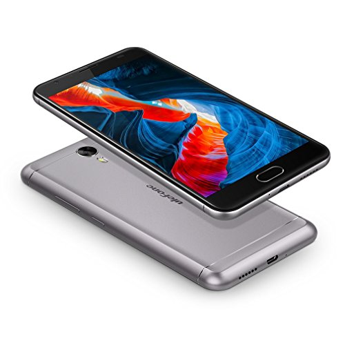 Unlocked Smartphone,LESHP Ulefone Android 7.0 8-Core CPU 4GB RAM 64G ROM Unlocked Smartphone with Power2 9V2A Fast Charging Rear camera 13 MP Front camera 8MP (Silver) by LESHP