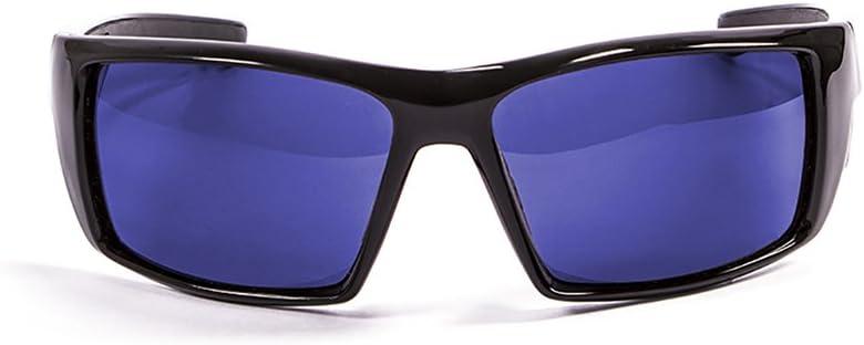 Ocean Sunglasses Aruba - Gafas de Sol polarizadas - Montura : Negro Brillante - Lentes : Azul Espejo (3201.1)
