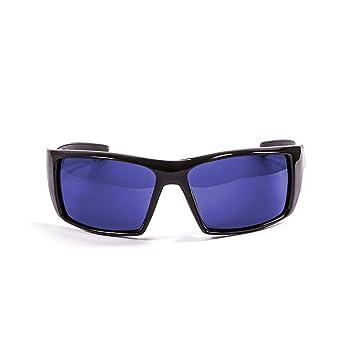 Ocean Sunglasses Aruba - lunettes de soleil polarisées - Monture : Noir Laqué - Verres : Revo Bleu (3201.1) wloKGO