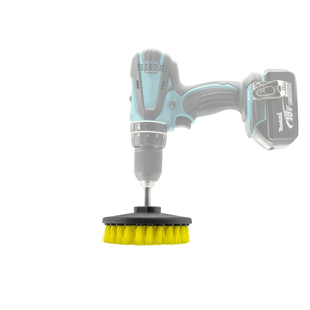 Chemical Guys Carpet Brush W//Drill Attachment Medium Duty Yellow