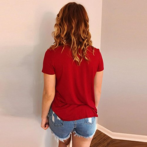 Amazon.com: DondPO Summer Womens Short Sleeve T Shirts Lady Loose Sexy V Neck Casual Blouse Shirt Tops: Clothing