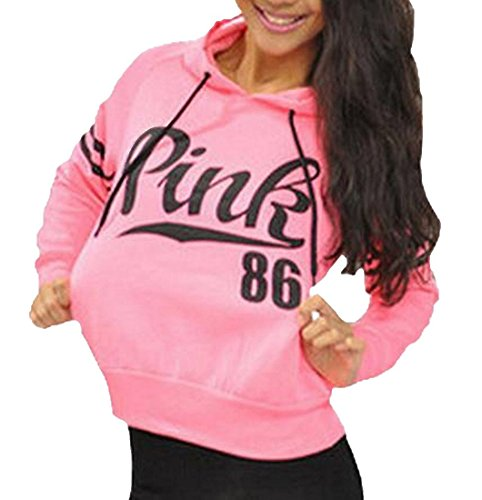 Womens Active Sweatshirt Long Sleeve Athletic Hooded Pullover XL Pink (Brand Hoodies Women)