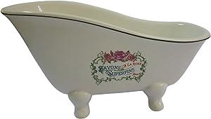 Kingston Brass BATUBSRW Aqua Eden Mini Ceramic Slipper Bathtub, 8-1/16-Inch x 3-7/8-Inch x 4-1/2-Inch, White