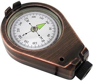 liuxi Camping Survival Compass Portable Sac de Compass Vintage Boussole étanche pour Les Outils de Navigation de Plein air