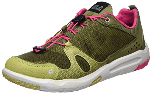 Jack Wolfskin Monterey Air Low W, Zapatillas de Deporte Exterior Para Mujer Multicolor (Light Khaki)