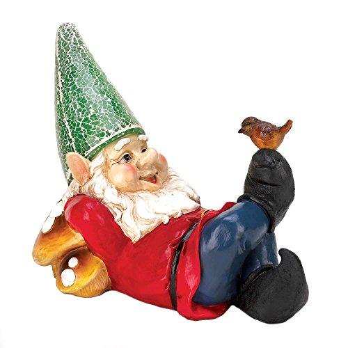Summerfield Terrace 10016214 Garden, Funny Christmas Ornament Lazy GNOME Solar Statue ()