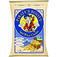 Pirate's Booty Snack Puffs, Aged White Cheddar, 10 Ounce