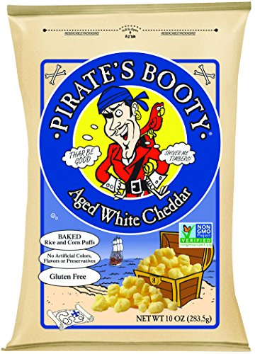 Pirate's Booty Non-GMO Snack Puffs, Aged White Cheddar, 10 Ounce