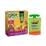 GoGo squeeZ Fruit & VeggieZ, Apple Carrot Mixed Berry, 3.2 Ounce Portable BPA-Free Pouches, Gluten-Free, 4 Total Pouches