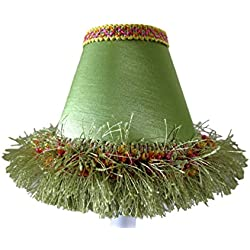 Silly Bear Lighting Caribbean Lime Chandelier Shade, Green