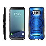TurtleArmor | Samsung Galaxy S8+ Case | S8 Plus Case | S8 Edge Case | G955 [Octo Guard] Hard Reinforced Impact Hybrid Cover Belt Clip Holster Tough Kickstand Cool Designs - Blue Technology
