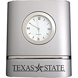 Texas State University–San Marcos- Two-Toned Desk Clock -Silver