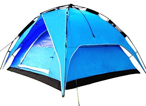 CHO OYU Outdoor Double Layer Tent,camping Tent,2-3 Persons Tent,no Need Construction,blue by CHO OYU