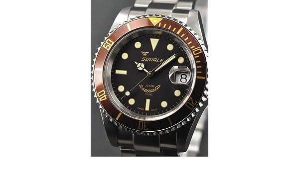 Squale 1545-Heritage - Reloj, correa de acero inoxidable color metálico: Amazon.es: Relojes