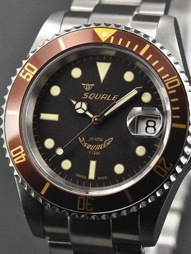 Squale 1545-Heritage - Reloj, correa de acero inoxidable color metálico