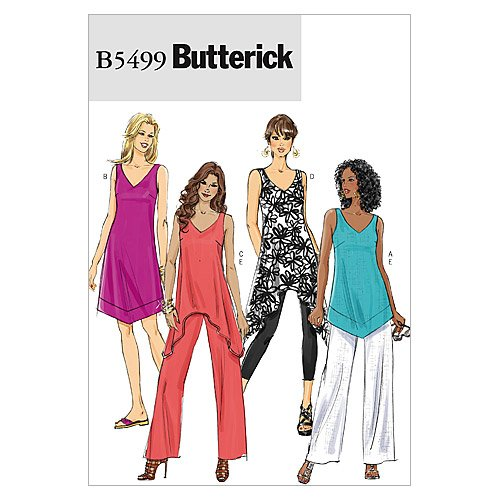 - BUTTERICK PATTERNS B5499 Misses'/Misses' Petite Top, Tunic, Dress and Pants, Size F5 (16-18-20-22-24)
