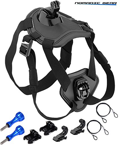 Nomadic Gear Dog Harness Chest Mount for GoPro, Garmin, Ricoh Action Cam, SJCAM, AKASO, Vtin, Cymas, Apeman, Lightdow, ODRVM, Vtin, Pictek, GT Road, Campark, SOOCOO Action - Gear Action