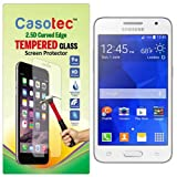 Casotec 2.5D Curved Edge Tempered Glass Screen Protector for Samsung Galaxy Core 2