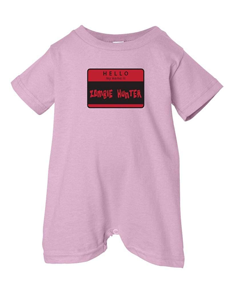 My Name Is Zombie Hunter T-Shirt Romper Pink, 24 Months Zombie Underground Unisex Baby Hello