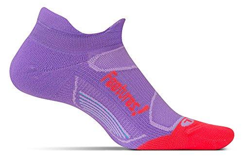 Price comparison product image Feetures Elite Light Cushion No Show Tab,Viola/Lava,Medium (US Mens 6-8.5/US Womens 7-9.5)