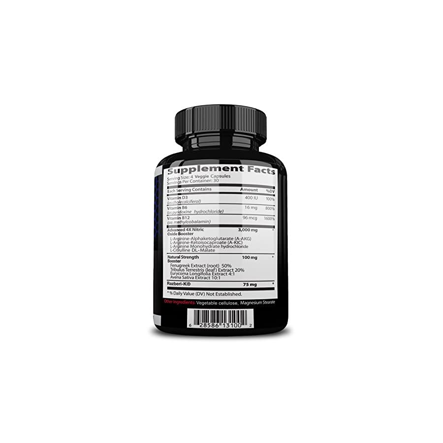 Nitrocut Pre Workout Supplement 120 Capsules Nitric Oxide Supplements l arginine l citrulline Premium Ingredients Increase Blood Flow Boost Muscle Growth
